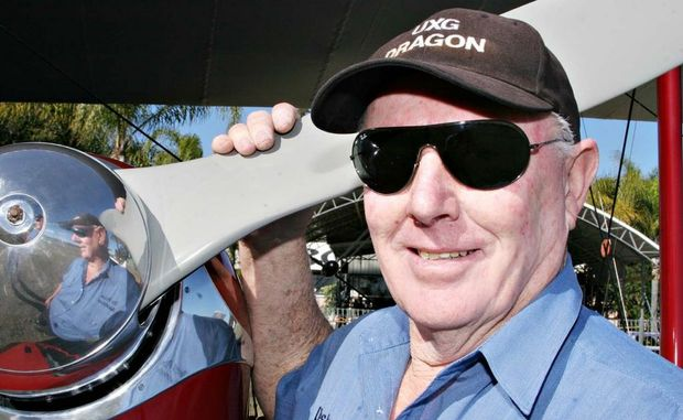 FRONT MAN: Des Porter will fly his Dragon in the front of the Barnstormers Over Brisbane on August 20. Photo Vicki Wood / Caboolture News