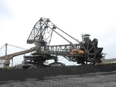 Coal loading operations.