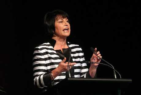 FRONTING UP: The Minister of Education, Hekia Parata, speaks about the Government's proposed education changes at a union meeting in Rotorua.