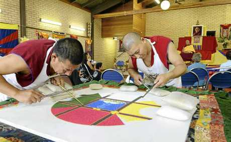 The Gyuto Monks of Tibet visited Yamba over the weekend and were at the Yamba Community Centre on Saturday creating a mandala.