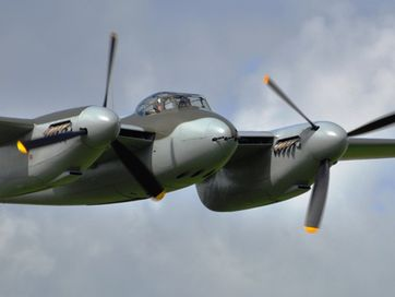 The World War II de Havilland Mosquito restored by Avspecs for Jerry Yagen has flown for the first time. It flew at Ardmore Airport on September 29, 2012 after seven years of restoration.