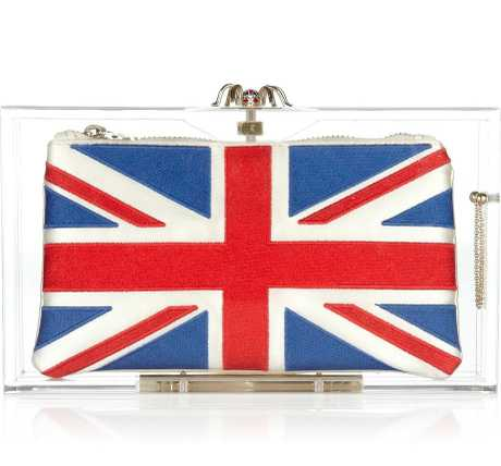 IN YOUR CLUTCHES: Charlotte - London 2012 Pandora Perspex clutch (above) (with three inner options), US$965; Charlotte.