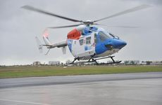 THE AGL Action Rescue Helicopter has flown a Gympie man to hospital after a fall from a ladder.