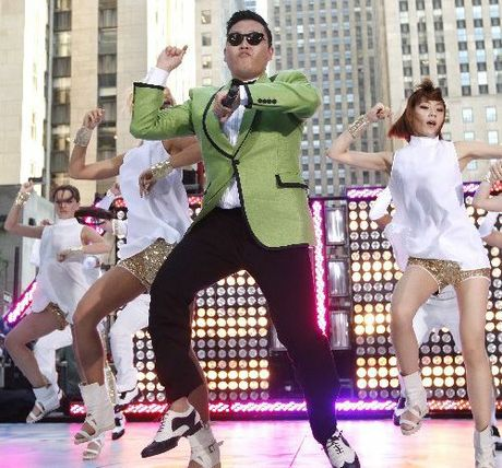 GANGNAM: South Korean rapper PSY performs his massive K-pop hit Gangnam Style.