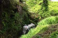 A car is believed to have gone off a cliff in the lower Kaimais.
