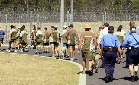 Serco staff and inmates at south Queensland Correctional Centre taking part in Walkabout Week for Red Dust.