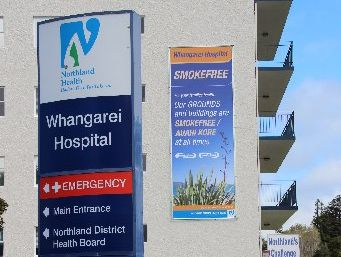 Visitors are left in no doubt of Whangarei Hospital's smokefree status. Photo / Supplied