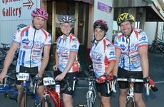Adrian Ellul, Elizabeth Ellul, Teena Martin and Damien Martin rode the 35km event for the first time in the River 2 Reef Charity Ride. Photo Lee Constable / Daily Mercury