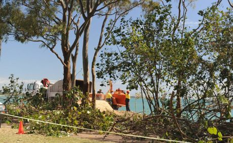 People who disagree with the council clearing on the foreshore are staging a four-day protest at Scarness.