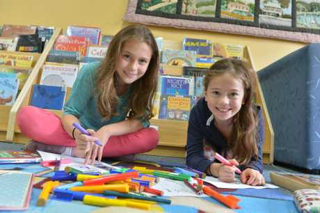 Tamara and Emily Eide are part of the Kids Club that will be involved in the Celebration of Books in Maleny in October. Photo: John McCutcheon / Sunshine Coast Daily