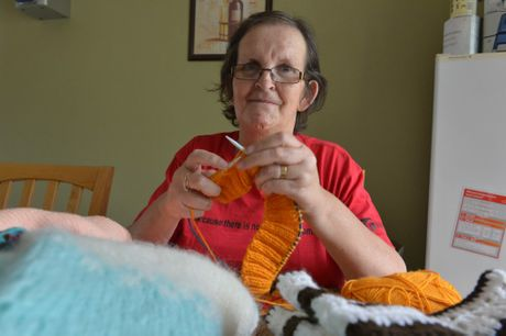 Karen Croke from Knitting for Brisbane's Needy has received a $5000 grant. Photo: John McCutcheon / Sunshine Coast Daily