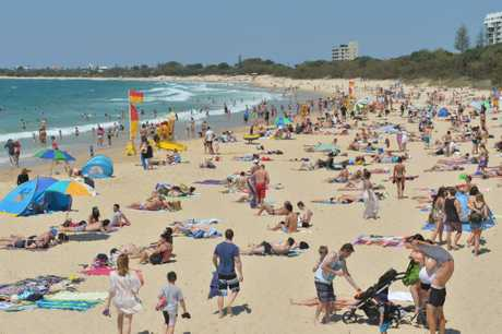 at Mooloolaba Beach for Family Fun Day.
