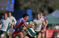 Grand Final of the Noosa International Sevens Tournament between the Aussie Thunderbolts and the Iconz at Dolphin Oval, Sunshine Beach: Jamie Tualagi of the Iconz. Photo: Brett Wortman / Sunshine Coast Daily