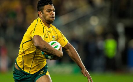 Kurtley Beale during the Rugby Championship and Bledisloe Cup opening match between the Australian Wallabies and the New Zealand All Blacks.