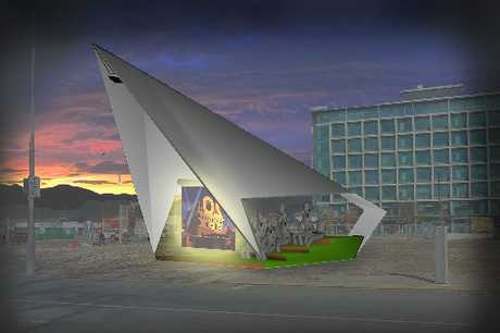 OUTDOOR THEATRE: This movie theatre concept is due to be installed at the Pop Up Precinct at the site of the old Charity Barn in New Brighton Mall.