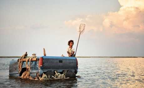 Quvenzhan Wallis in a scene from the movie Beasts of the Southern Wild.