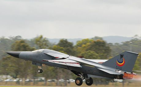 An F111 module will be the centrepiece of the RAAF display at the show. Contributed