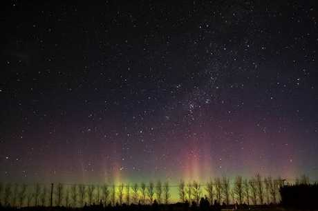Andrew Dallow captured this photo of the Southern Lights (Aurora Australis) in July from Darfield, Canterbury.  FILE