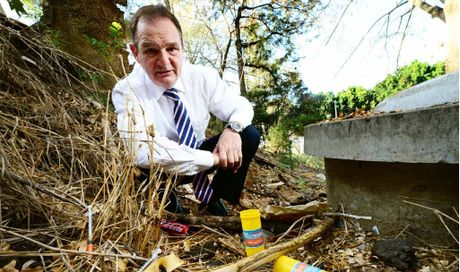 Ipswich Mayor Paul Pisasale is angry about discarded syringes being dumped in public places.