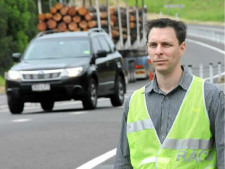 The RACQ's Greg Miszkowycz is touring regional highways.