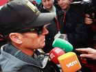 Lance Armstrong at the 2012 Paris Roubaix cycle race from Compiegne to Roubaix on April 8, 2012 in Paris, France.