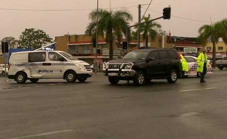 A police van was involved in a crash on Morayfield Rd yesterday afternoon.