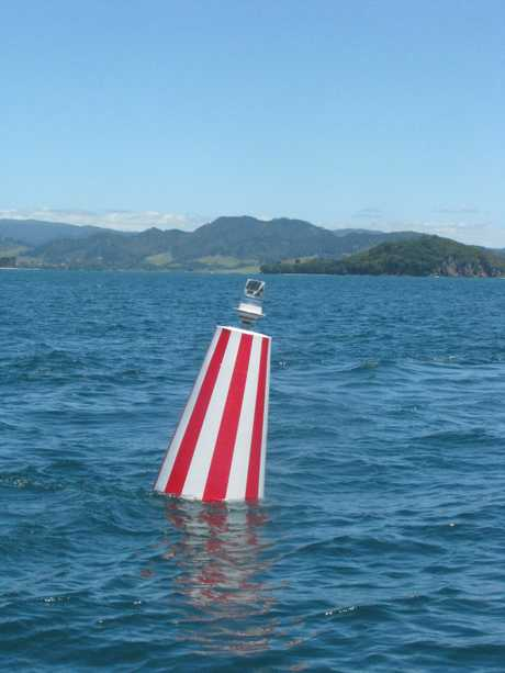 The bouy 1.9 nautical miles off shore was installed to guide boaties safely over the Bowentown bar.