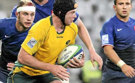 Australian lock Jed Holloway competes during the IRB U20 Championship match between France and Australia at Cape Town Stadium in June. Photo: Getty Images