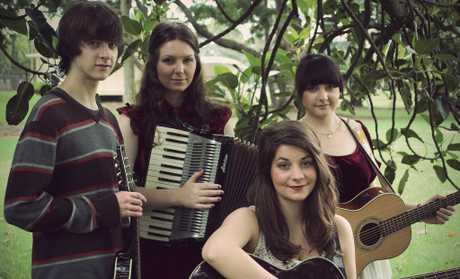 Ethelred will release its EP People You've Met tomorrow and includes (from left) Eddie Smith, Laura Morley, Alice Mathieson and Lucy Smith. Photo Contributed.