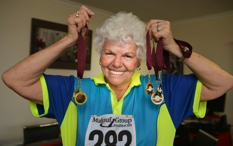 Penny Taylor wins Gold masters medals after having Gillian Barre disease. Photo Renee Pilcher / The Gympie Times