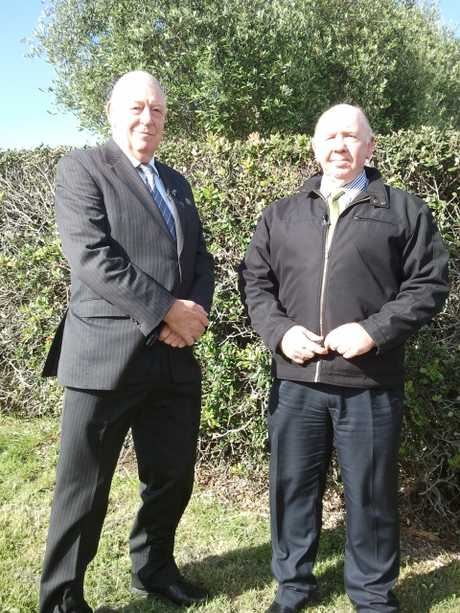 Former Bay policeman and Police Ten 7 host Graham Bell and Tauranga Detective Sergeant Darryl Brazier.