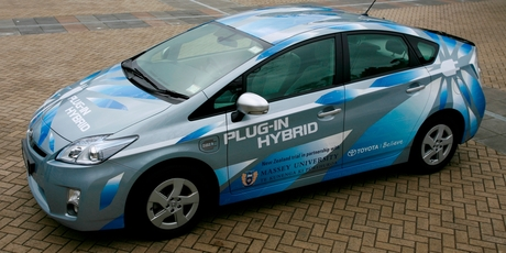 Toyota's plug-in Prius variant, which is not available in New Zealand.