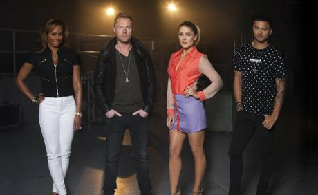 The X Factor Australia judges, from left, Mel B, Ronan Keating, Natalie Bassingthwaighte and Guy Sebastian.