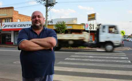 SAFER STREETS: Jim Bennett at the crossing on Haly St. Photo: Louise Cheer
