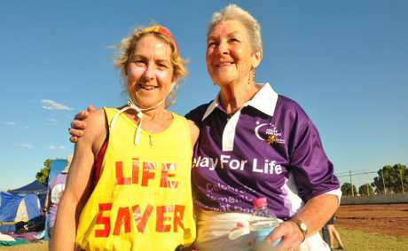 LIFE SAVER: Margie Williams and Gwenda Allen from Birds of a Feather. PHOTO: Rowan Hunnam