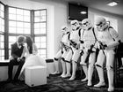 MIXING the traditional with the quirky, Stephanie and her partner Craig Ridoux were married in the company of stormtroopers.