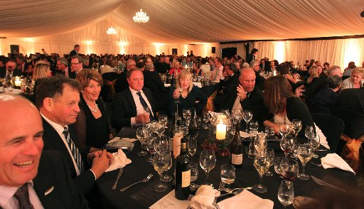 The scene last night at the Hawke&amp;squot;s Bay wine awards.