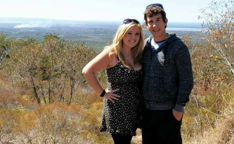 Daily journalist Kristy Muir with boyfriend Lion Goldsworthy who she met online.
