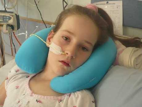 INTENSIVE CARE: Carterton schoolgirl Grace Yeats, 10, is to start treatment at Starship Hospital today to clear any underlying infection that could have contributed to the mystery brain illness she contracted earlier this year. PHOTO/SUPPLIED
