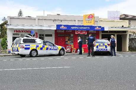 Police rushed to the Arataki Superette after the owner scared off a suspected would-be-attacker.