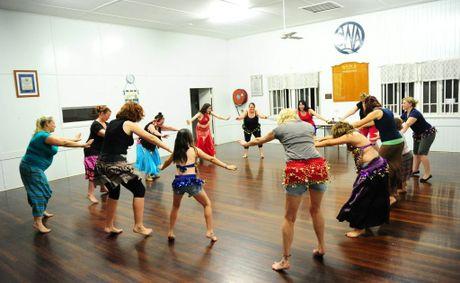 Beginner Belly Dance Class. Tom Huntley. WITH the bikini and board short ...