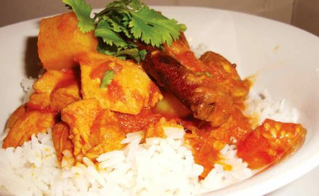 Tomato and chicken curry 