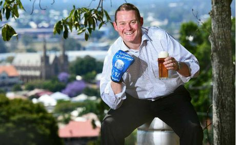Local brewer Wade Curtis with his new mid-strength beer the Ipswich Challenger.