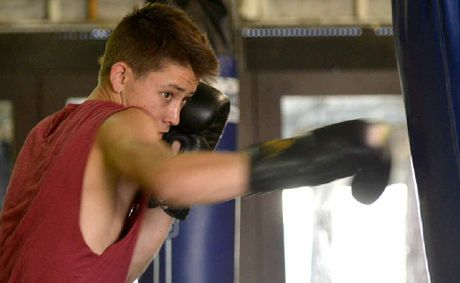Boxer Liam Paro in training for the national amateur titles to be held in Mackay In November.