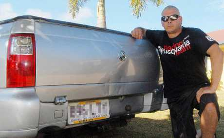 Matthew Appleby wants the council to pay to fix damage to his ute.