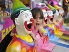 Felicity Schulzeck, 8 of Clunes, at the Laughing Clowns at the North Coast National. Photo Cathy Adams / The Northern Star