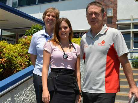 HEALTH HELPERS: Clinical nurse Beth Ratajczyk, medical student Lisa Major and chronic disease co-ordinator Nick Whittle.