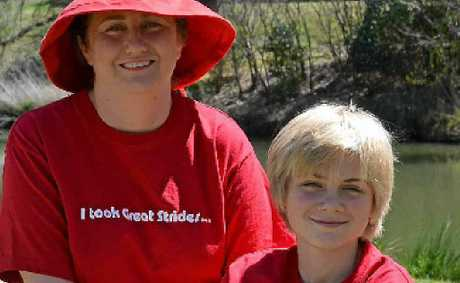 Clare McHugh von Stieglitz, son Peter von Stieglitz and labrador pup Roberta will all be taking part in the walkathon.