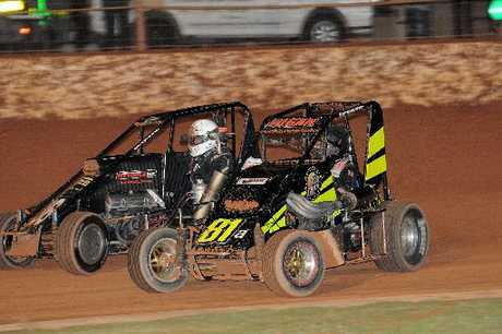 High-powered and lightweight midget cars are the opening-night attraction at Baypark Speedway this weekend. Photo / Colin Smith
