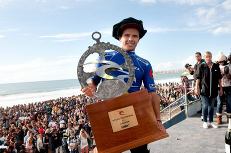 Coolum surfer Julian Wilson wins the Rip Curl Pro Portugal.